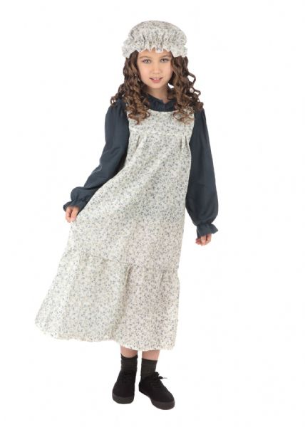 Classic Victorian Girls Fancy Dress Costume